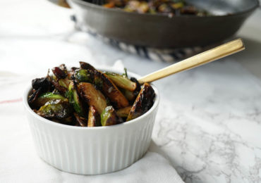 Crispy Brussel Sprouts with Bacon and Dates