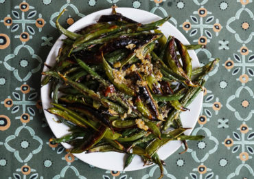 Charred Bean and Pea Salad