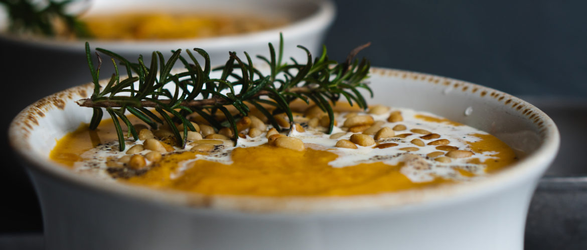 Butternut Squash  with Smoked Gouda Soup